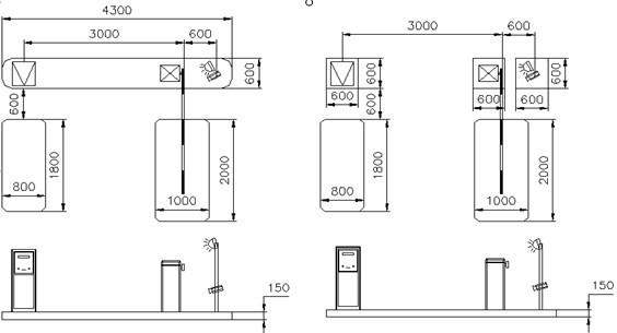 停车场系统厂家的安全岛规划